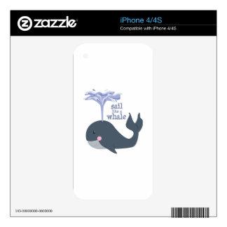 Sail Like Whale iPhone 4S Skins