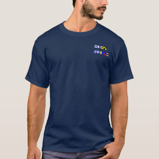 SAIL NAKED - Spelled with Nautical Flags T-Shirt