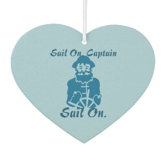 Sail On Heart Shaped Car Air Freshener