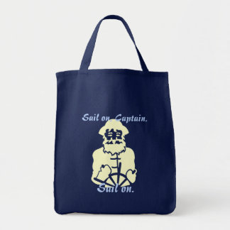 Sail on Pastel Yellow and Blue Tote Bag