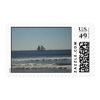 Sail On The Seas Postage Stamp