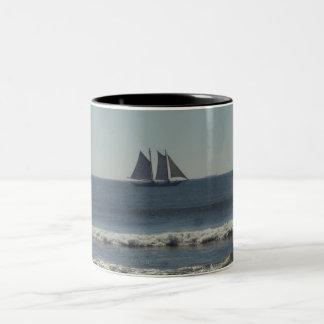 Sail On The Seas Two-Tone Coffee Mug