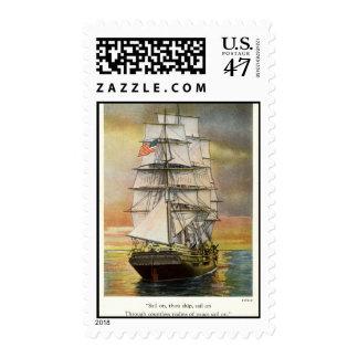 Sail on Thou Ship Vintage 1926 Postage