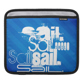 Sail; Royal Blue Stripes Sleeve For iPads