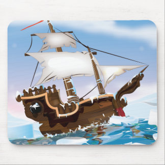 Sail Ship in the Arctic Ocean Mouse Pad