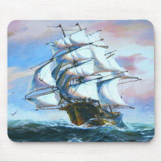 Sail Ship Painting Mouse Pad
