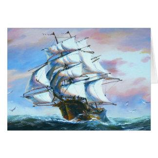 Sail Ship Painting Note Card