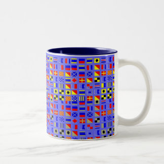 SAIL SHIP SIGNAL FLAGS MUG