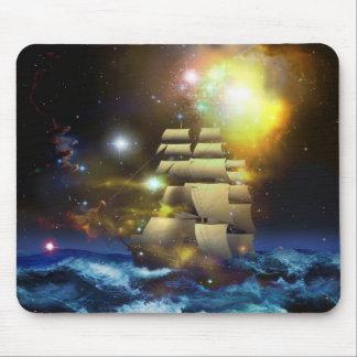 Sail Ship Universe Mouse Pad