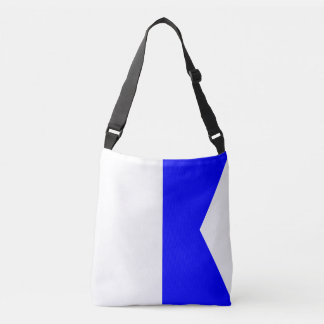 Sail Sign Flag Letter A Alpha Water Sports Pattern Crossbody Bag