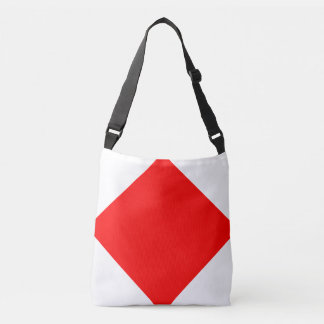 Sail Sign Flag Letter F Foxtrot Nautical Pattern Crossbody Bag