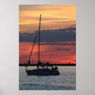 Sail @ Sunset Poster
