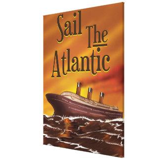 Sail the Atlantic vintage travel poster Canvas Print
