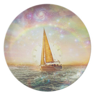 Sail The Sea Of Time Melamine Plate