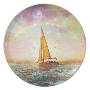 Ocean Themed Sail The Sea Of Time Melamine Plate