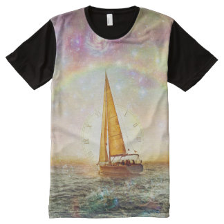Sail The Sea Of Time Men's All-Over Printed TShirt
