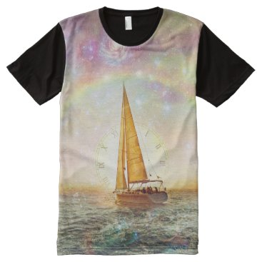 Ocean Themed Sail The Sea Of Time Men's All-Over Printed TShirt
