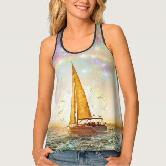 Sail The Sea Of Time Women's All-Over Print Tank T