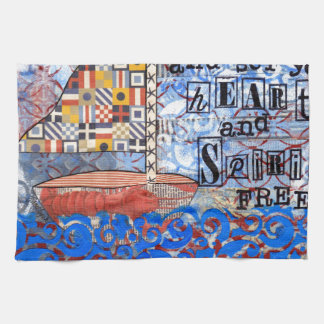 Sail the Sea & Set Your Heart and Spirit Free Hand Towel