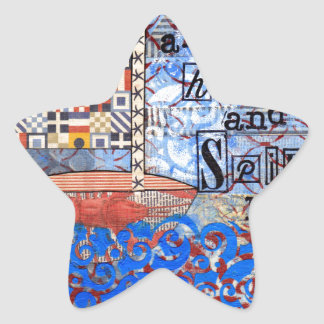 Sail the Sea & Set Your Heart and Spirit Free Star Sticker