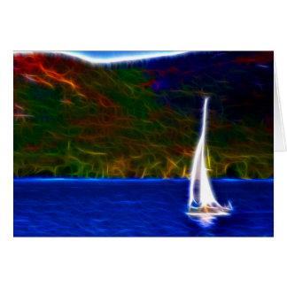 Sail through life greeting card