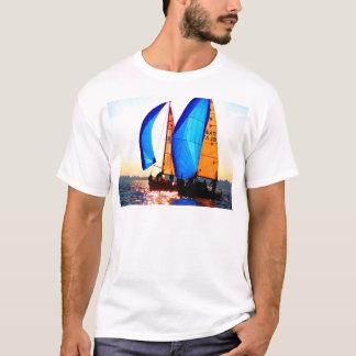 Sail to goal and success regatta boat vela sea T-Shirt
