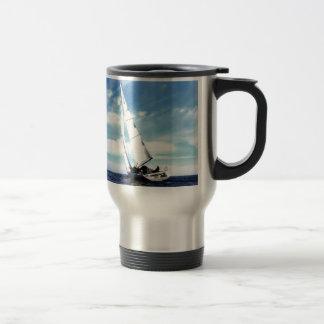 Sail to success catania sicily sky clouds sea travel mug