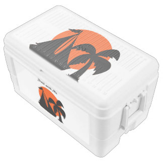 Sail with Me Silhouette Design Chest Cooler