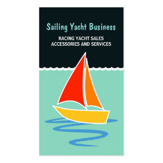 Sail Yacht Sailing Boat Boating Business Cards