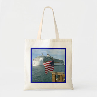 Sailaway with Flag Budget Tote Bag