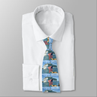 Sailaway with Flag Double Sided Tie