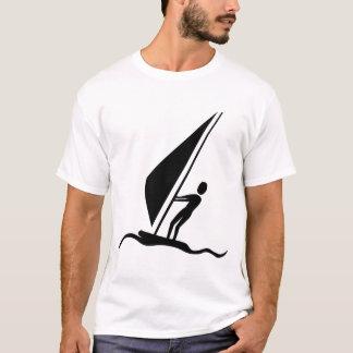 Sailboarding - Black T-Shirt