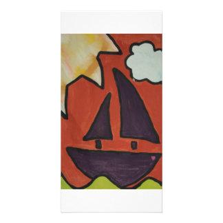 sailboat2 photo greeting card