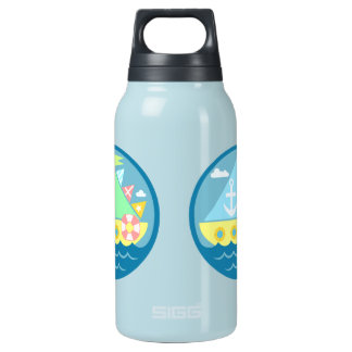 Sailboat 10 Oz Insulated SIGG Thermos Water Bottle