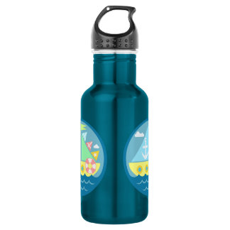 Sailboat 18oz Water Bottle