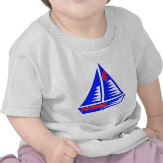 Sailboat 4th Birthday Gifts T Shirt