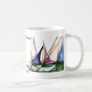 Sailboat Abstract - CricketDiane Ocean Art Classic White Coffee Mug