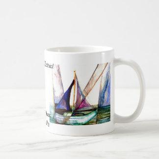 Sailboat Abstract - CricketDiane Ocean Art Coffee Mugs