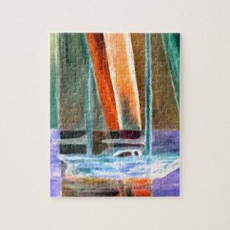 Sailboat Abstract Intangible Sailing Decor Gifts Jigsaw Puzzle