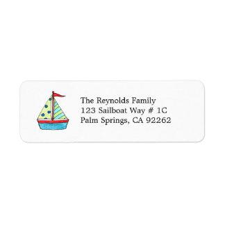 Sailboat Address Labels
