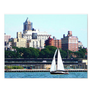 Sailboat Against Manhattan Skyline Card