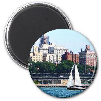 Sailboat Against Manhattan Skyline Magnet