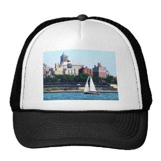 Sailboat Against Manhattan Skyline Trucker Hat