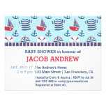Sailboat Anchor Nautical Pattern baby shower Invite