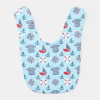 Sailboat Anchor Nautical Pattern For Babies Baby Bibs