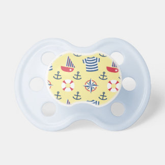 Sailboat Anchor Nautical Pattern For Babies BooginHead Pacifier
