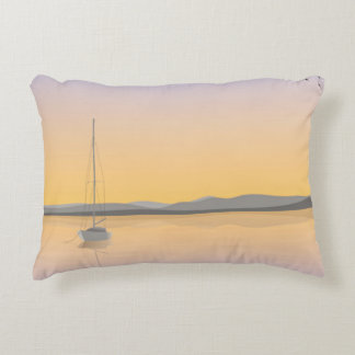 Sailboat anchored. accent pillow