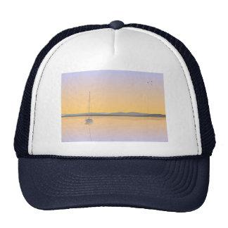Sailboat anchored. trucker hat
