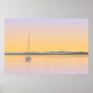 Sailboat anchored. print