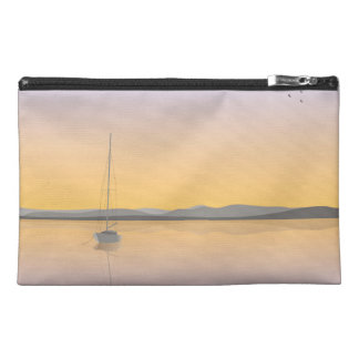 Sailboat anchored. travel accessory bag